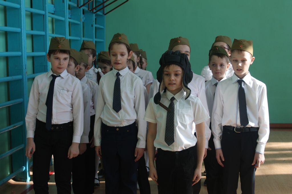 Смотр песни и строя в начальной школе